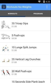 Workouts No-Weights screenshot 2