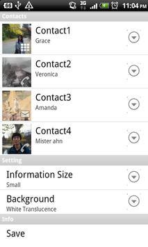 ContactWidget apk screenshot