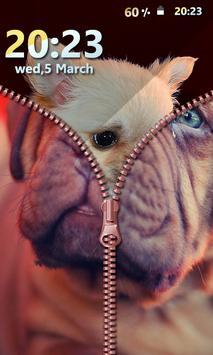 Puppy Zipper Screen Lock screenshot 2