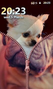Puppy Zipper Screen Lock screenshot 3