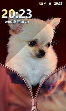 Puppy Zipper Screen Lock screenshot 4