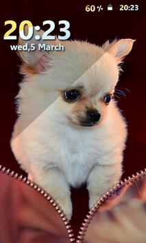 Puppy Zipper Screen Lock screenshot 5