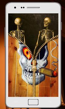 Skull Zipper Screen Lock screenshot 3