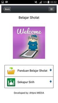 Panduan Belajar Sholat poster