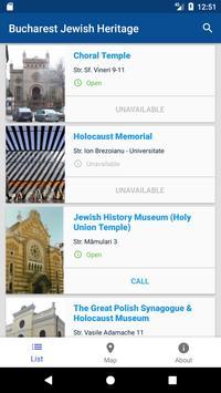 Bucharest Jewish Heritage poster