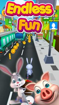 Bunny Rush: Gold Run 3D Game apk screenshot