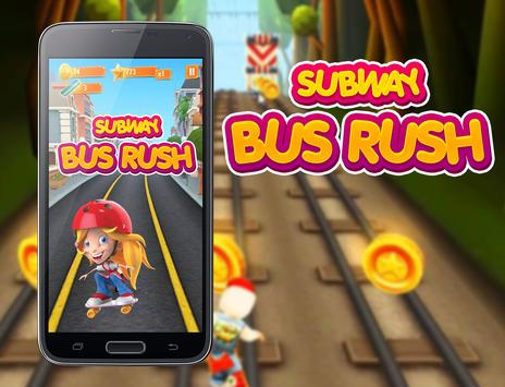 Subway Bus Rush Surfers poster