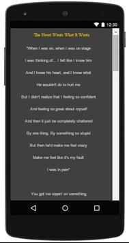 Selena Gomez Lyrics Complete screenshot 6