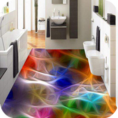 3D chromed floor icon