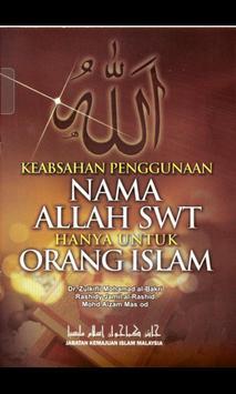 Penggunaan Nama ALLAH SWT poster