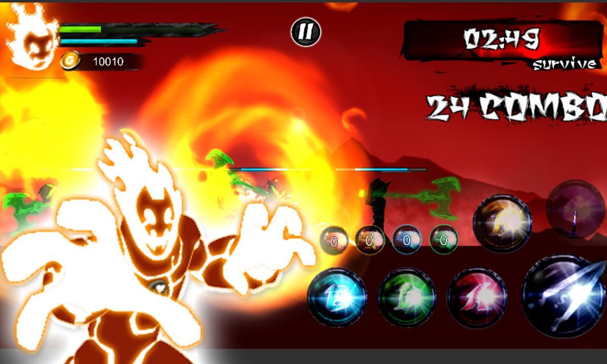 Fire ben alien force ten omnitrix full protector for Android