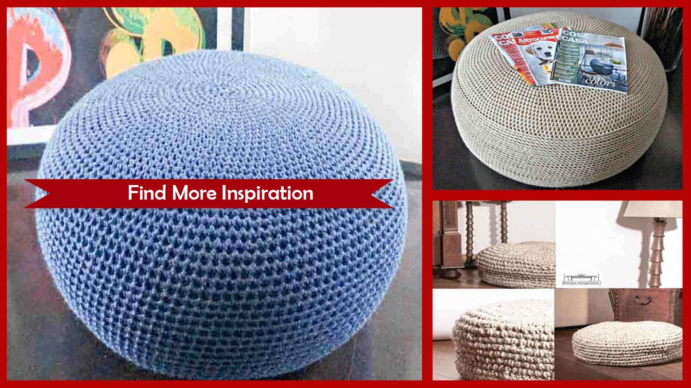 Knitted Pouf Pattern Image collections - handicraft ideas home ...