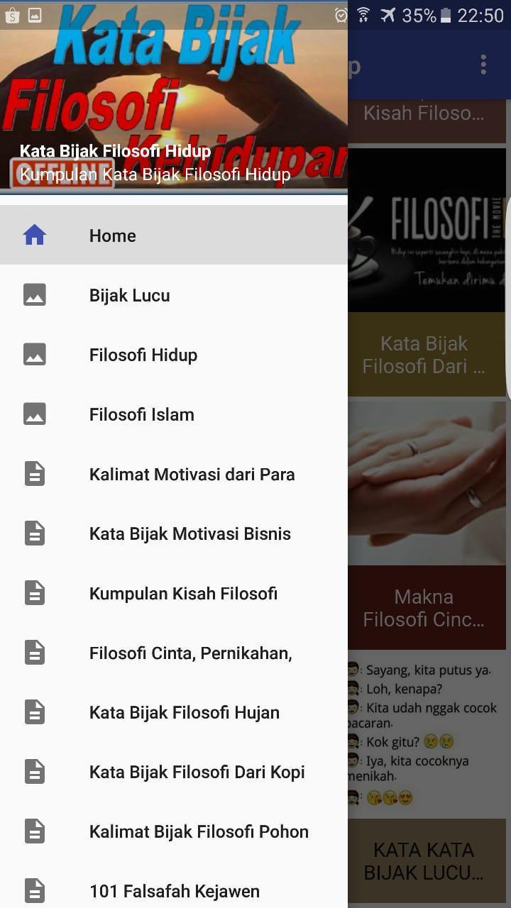 Kata Kata Bijak Filosofi Hidup Für Android Apk Herunterladen