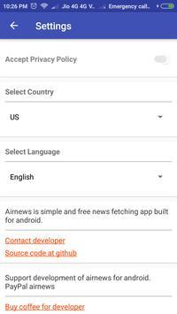 Airnews apk screenshot