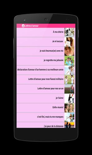 Lettres Damour 2015 For Android Apk Download