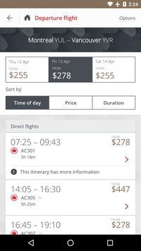 Air Canada screenshot 2