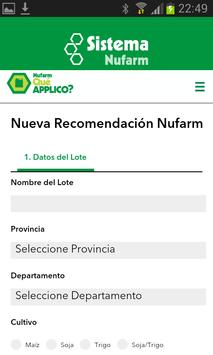 Que APPlico - Sistema Nufarm screenshot 2