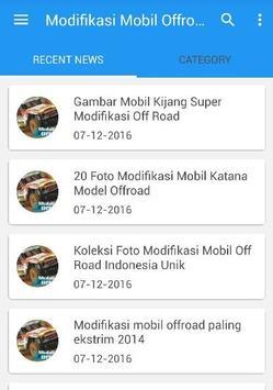 Modifikasi Mobil Offroad poster