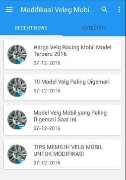 Modifikasi Velg Mobil Racing poster