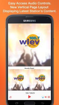 100.7 WLEV poster