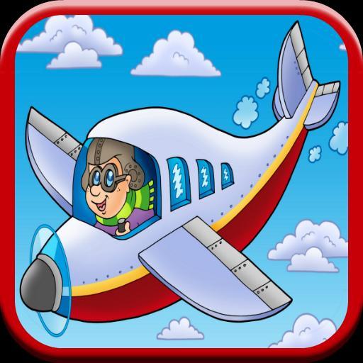Fototapete Cartoon Flugzeug-Symbol • Pixers® - Wir leben, um zu verändern