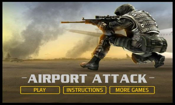 Airport Attack - Sniper Game poster