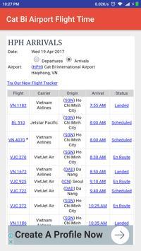 Cat Bi Airport Flight Time poster