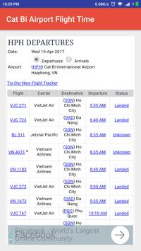 Cat Bi Airport Flight Time apk screenshot