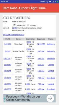 Cam Ranh Airport Flight Time screenshot 1