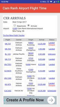 Cam Ranh Airport Flight Time screenshot 2