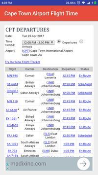 Cape Town Airport Flight Time screenshot 1