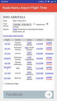 Kuala Namu Airport Flight Time poster