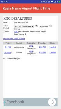 Kuala Namu Airport Flight Time apk screenshot