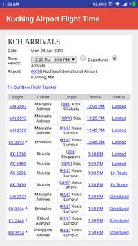 Kuching Airport Flight Time poster