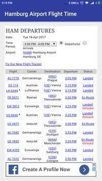 Hamburg Airport Flight Time poster