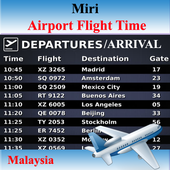 Miri Airport Flight Time icon