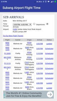 Subang Airport Flight Time poster