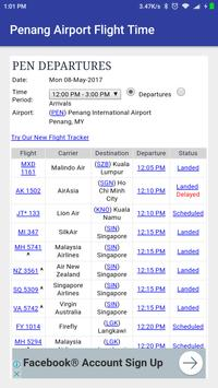 Penang Airport Flight Time screenshot 1