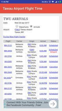 Tawau Airport Flight Time poster