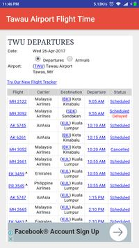 Tawau Airport Flight Time apk screenshot