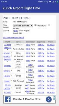 Zurich Airport Flight Time apk screenshot