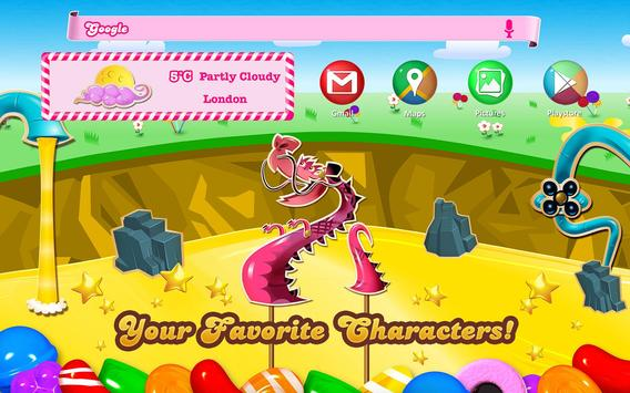 Candy Crush Android Theme apk screenshot