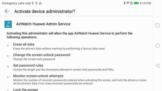 AirWatch Service for Huawei poster