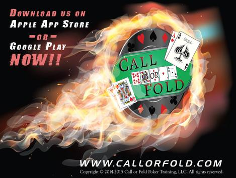 Call Or Fold Poker Training poster