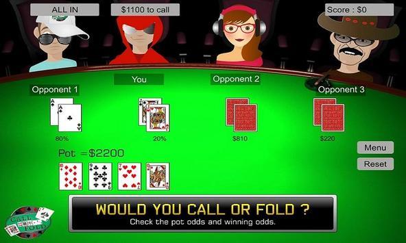 Call Or Fold Poker Training screenshot 2