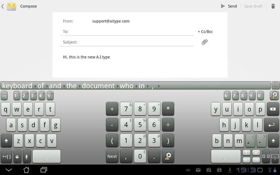 A.I.タブレットキーボード スクリーンショット 2