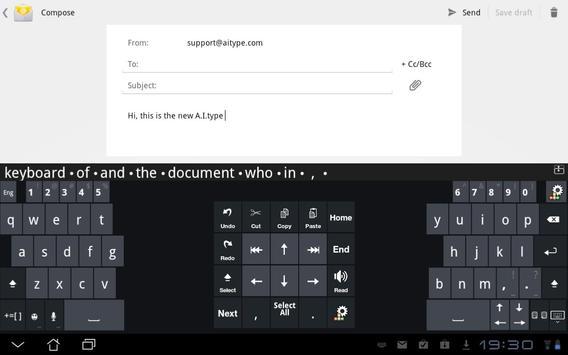 A.I.タブレットキーボード スクリーンショット 3