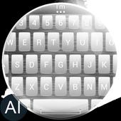 Theme for A.I.type Metal White icon