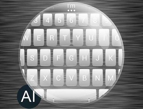 Theme for A.I.type Metal White apk screenshot