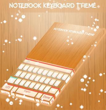 Notebook Keyboard Theme apk screenshot